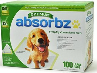 Absorbz Optimum Training Pads for Dogs  100 ct  large 24 x24  Pads