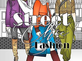 Street Chic Fashion  Adult Coloring Book 2 ct