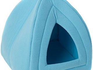 PETMAKER Cozy Kitty Tent Igloo Plush Cat Bed   Blue