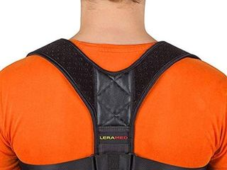 New 2020  Posture Corrector for Men and Women   Adjustable Upper Back Brace for Clavicle Support and Providing Pain Relief from Neck  Back and Shoulder  Chest Size 25    45