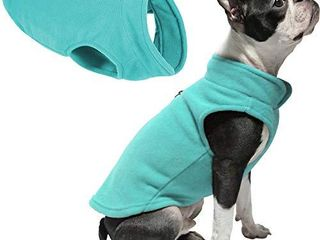 Gooby Dog Fleece Vest   Turquoise  Small   Pullover Dog Jacket with leash Ring   Winter Small Dog Sweater   Warm Dog Clothes for Small Dogs Girl or Boy for Indoor and Outdoor Use