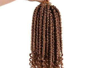 Senegalese Spring Twist Crochet Braids 14inch 6 Pack Omdre Synthetic Braiding Hair Extensions Fluffy Spring Twist Crochet Hair Curl End  Color 27  6Pcs Pack