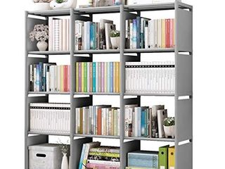 Rerii Cube Storage  12 Cubes Organizer Shelves  Bedroom Storage  Closet Organizer  Standing Book Shelves for living Room  Study Room  Office