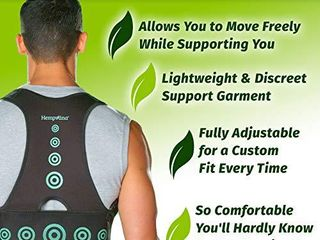 Hempvana Arrow Posture   Fully Adjustable Posture Support   Posture Corrector for Upper Body   Helps Correct Slouching  Text Neck and Hunching Over  S M