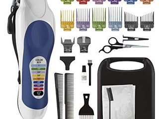 Wahl Corded Clipper Color Pro Complete Hair Cutting Kit for Men  Women    Children with Colored Guide Combs for Smooth  Easy Haircuts   Model 79300 1001