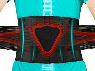 FEATOl Back Brace lumbar Support Back Brace for lifting  Back Pain  Sciatica  Scoliosis  Herniated Disc lower Back Brace with Removable Ergonomically Designed 3D Silicone lumbar Pad for Men   Women