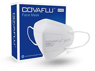 COVAFlU KN95 Face Mask Pack of 10 Fold Flat KN95 Face Masks Comfortable Fit
