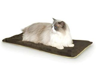 K H Pet Products Thermo Kitty Mat Heated Pet Bed Mocha 12 5 X 25 Inches
