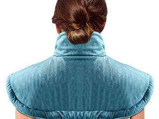Electric Heating Pad for Neck and Shoulders Pain Relief with Auto Shut Off  Three Temperature Settings  Machine Washable