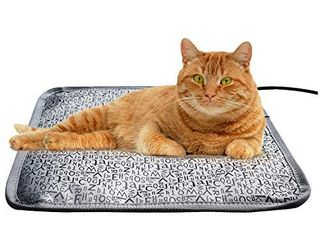 Cat Heating Pads Electric Heating Pad Waterproof Adjustable Warming Mat with Chew Resistant Steel Cord  letter  17 7 x17 7