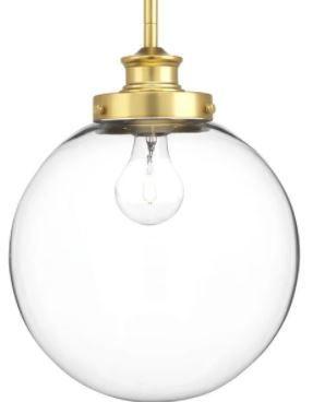 Carbon loft McKinnon 1 light Orb Pendant   13 250  x 12 500  x 19 250  Retail 89 99