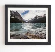Deny Designs Mountain lake louise Framed Wall Art