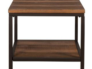 Hillsdale Furniture Durham Wood and Metal Accent Table  Walnut   Retail 126 99