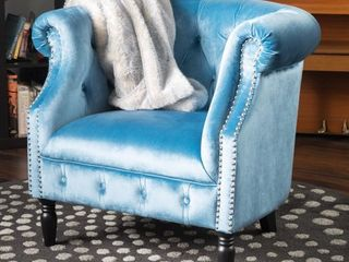 Akira Velvet Club Chair by Christopher Knight Home  Retail 333 31