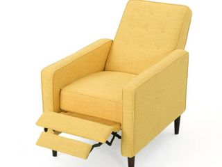 Mervynn Mid century Button Tufted Fabric Recliner Club Chair by Christopher Knight Home  Retail 268 99
