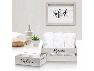 Elegant Designs 3 Piece Inspirational Wood Bathroom Set   large gray Wash