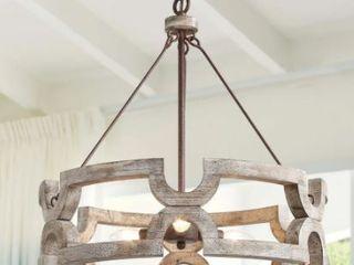 Taupe  The Gray Barn Maplehurt Farmhouse Drum Chandelier  Retail 233 49