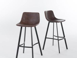 Dax 30 inch Faux leather Snake Skin Pattern Barstool  Set of 2  by Christopher Knight Home  Retail 156 36