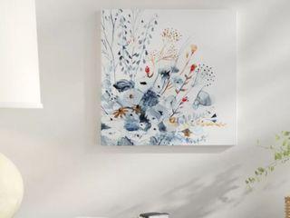 Indigo   Ochre II  Premium Gallery Wrapped Canvas