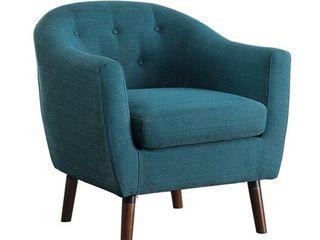 lucille Accent Chair  Blue Color