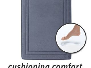 MICRODRY Quick Drying Memory Foam Bath Mat with GripTex Skid Resistant Base