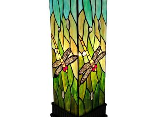 Tiffany Style Table lamp Dragonfly Stained Glass Piano Decor Nightstand Amora lighting  Retail 115 99
