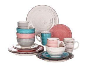 Vancasso Bella 16 Piece Vintage Stoneware Dinnerware Set for 4  Retail 75 23