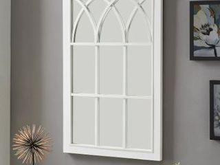 FirsTime  amp  Co  Grandview Arched Farmhouse Window Mirror  Wood  Retail 136 49