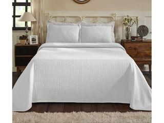 Superior Jacquard Matelasse Fleur de lis Twin Bedspread Set
