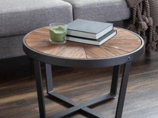 Rustic Brown  Kate and laurel Gerhardt Round Coffee Table   Retail 199 99