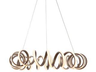 Jonathan Y Cursive Adjustable Spiral Integrated led Metal Chandelier Ceiling light