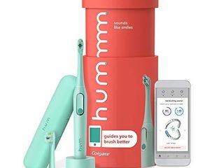 hum by Colgate Smart Electric Toothbrush Kit  Rechargeable Sonic Toothbrush with Travel Case and Replacement Head  Teal