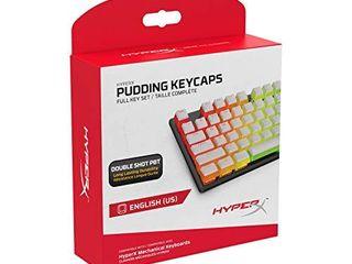 HyperX Pudding Keycaps   Double Shot PBT Keycap Set with Translucent layer  for Mechanical Keyboards  Full 104 Key Set  OEM Profile  English  US  layout   White