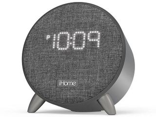 iHome Bluetooth Alarm Clock with USB Charging   Grey