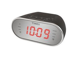 Timex Am Fm Dual Alarm Clock Radio With Digital Tuning 1 2 Inch Red led Display