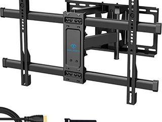 PERlESMITH Full Motion TV Wall Mount Bracket Dual Articulating Arms Bear up to 132lbs for Most 37 70 inch TV with Tilt  Swivel  Rotation fit lED  lCD  OlED  Plasma Flat Screen TV  Max VESA 600x400mm