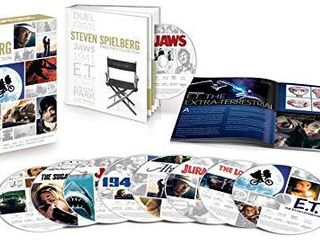 Steven Spielberg Director s Collection  Jaws   E T  The Extra Terrestrial   Jurassic Park   The lost World  Jurassic Park   Duel   The Sugarland Express   1941   Always   Blu ray