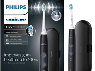 Philips Sonicare ProtectiveClean 5100 Gum Health  Rechargeable Electric Toothbrush with Pressure Sensor  Black HX6850 60  1 Count
