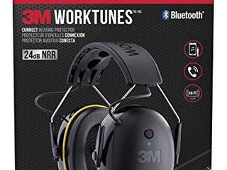 3M WorkTunes Connect Hearing Protector with Bluetooth Technology  24 dB NRR  Ear protection for Mowing  Snowblowing  Construction  Work Shops