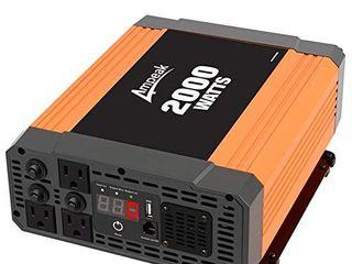 Ampeak 2000W Power Inverter 3 AC Outlets DC 12V to 110V AC Car Converter 2 1A USB Inverter