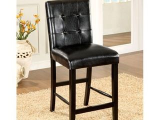 Furniture of America Queh Modern Black Counter Height Chairs  Set of 2