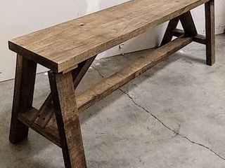 Rustic Wood Backless Entryway Bench  57  W x 11  D x 21  H