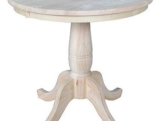 International Concepts 30  Round Pedestal Table  Unfinished