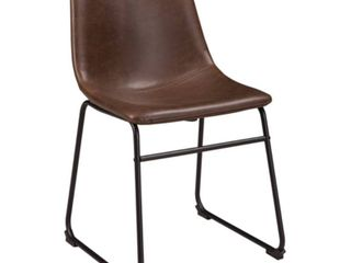 TWO BOXES OF TWO  FOUR CHAIRS TOTAl  Set of 2 Centiar Dining Upholstered Side Chair Brown Black   Signature Design by Ashley