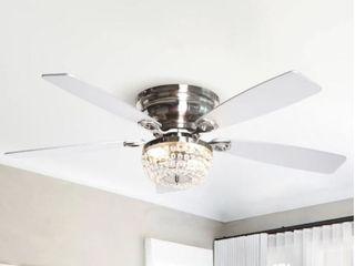 48  low Profile Crystal Indoor Ceiling Fan