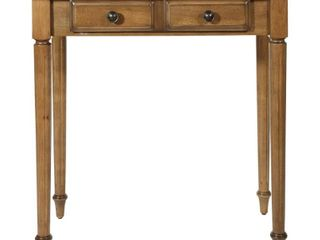 OSP Designs   Bandon Rectangular Traditional Wood 2 Drawer Table   Ginger Brown