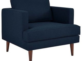 Modway Agile Fabric Upholstered Armchair  Navy Blue and White