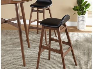 Two Boxes of Two   Four Chairs Total  Ferris Mid Century 30 inch Barstool  Set of 2  Multiple Colors