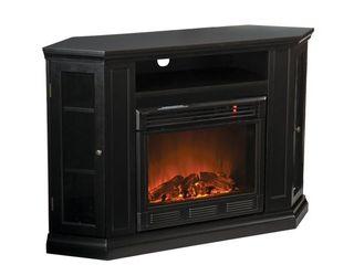SEI Claremont Convertible Media Electric Fireplace  Black