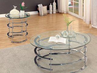 Furniture of America Odella Contemporary 2 piece Accent Table Set